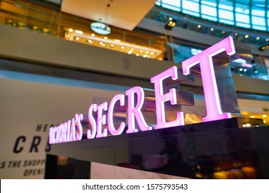 SINGAPORE - CIRCA APRIL, 2019: Victoria's Secret sign seen in the Shoppes at Marina Bay Sands.