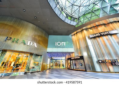SINGAPORE - CIRCA November, 2015: The sculpture at the mall ION Orchard - one the best shopping centers on Orchard Road. In the mall more than 300 shops of the famous brands.