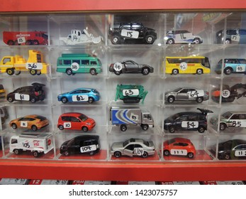 SINGAPORE CITY / SINGAPORE - AUGUST 8, 2012: Small Car Toys in the Toyshop in Singapore Toysrus Orchard Road