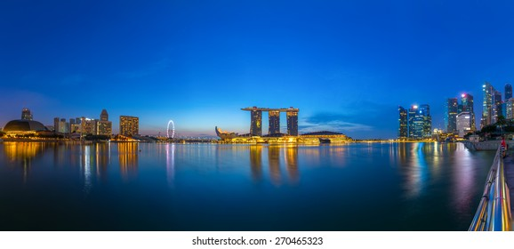 Singapore city in the night