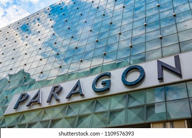 SINGAPORE CITY, SINGAPORE - OCTOBER 09, 2016:  The Paragon Shopping mall on Orchard road. Paragon is an 18 story upmarket shopping centre on Orchard Road.