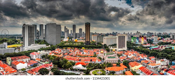 Singapore City Panoramic 180 degree view