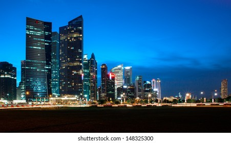Singapore City skyline from Marina Boulevard