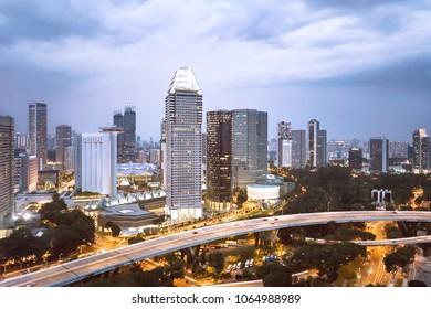 Singapore cityscape, Marina