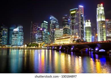 Singapore cityscape at night