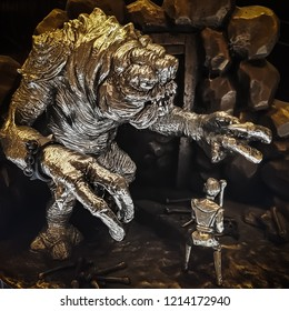Singapore -Dec 21, 2017:  Royal Pewter Selangor Star Wars characters on sales in Singapore.