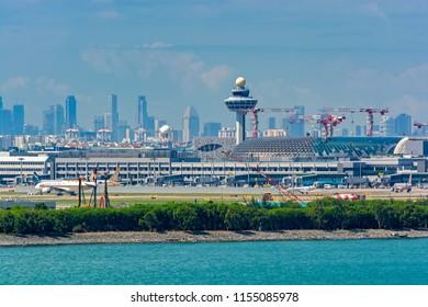SINGAPORE, SINGAPORE - Dec 22, 2017: Changi International airport development.