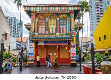 Singapore, Singapore - Dec 24, 2016: Little India precinct