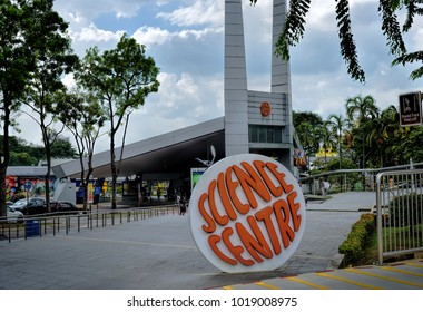 SINGAPORE - DECEMBER 10, 2017: Day view of Science Centre Singapore. It is a scientific institution in Jurong East. The nearest MRT station is Jurong East Station, take a short walk to the Science Cen