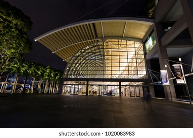 Singapore, December 10 2017: The Shoppes at Marina Bay Sands is a famous shopping center of Singapore travel destination