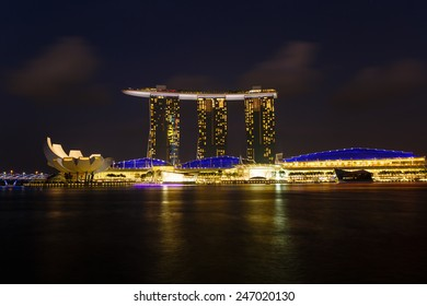 Singapore, Singapore - December 12, 2014: excursion trip to Singapore, Marina Bay Sands