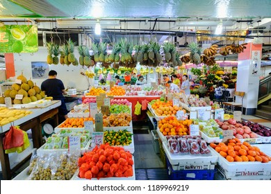 Singapore - December 16, 2017 : Fresh Market in Singapore There are also fruits, vegetables and other fresh produce