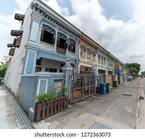 Singapore -December 2018: Peranakan House at Katong area. Peranakans are made up of Chinese immigrants who came to the Malay archipelago including British Malaya.