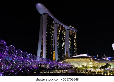 SINGAPORE : December 22, 2016  : The Marina Bay Sands Resort Hotel