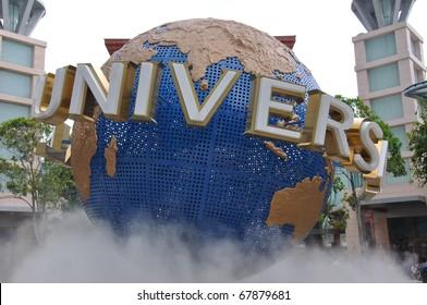 SINGAPORE - DECEMBER 24: UNIVERSAL STUDIOS SINGAPORE at Singapore Resorts World Sentosa on December 24, 2010 in Singapore