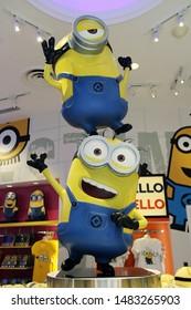 Singapore - December 26, 2017: Minion Mayhem Movie at Minion Park in Universal Studios. Universal Studios Singapore is a theme park.