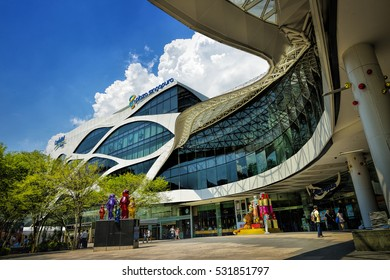 SINGAPORE - DECEMBER 6, 2016: Day view of Plaza Singapura at Orchard Road, Singapore. The Plaza Singapura shopping mall is popular with families, teenagers and young adults.