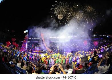 SINGAPORE - FEB 04 : chingay 2012 parade singapore, celebrates Lunar New Year at pit building Feb 04, 2012 in Singapore.
