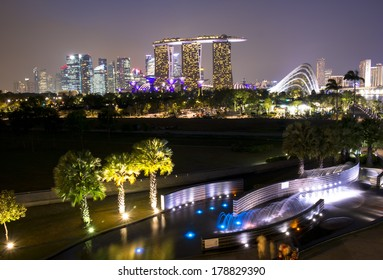 SINGAPORE - FEB 04,2014: Marina Bay Sands, World's most expensive standalone casino property