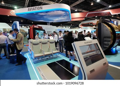 Singapore - Feb 06 2018: The Singapore Airshow 2018, formerly known as Changi International Airshow, is a biennial aerospace event. It is Asia's Largest Aerospace and Defence event.