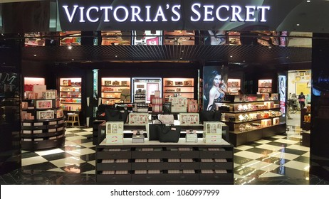 Singapore, Singapore - Feb 2018: Victoria's Secret retail store. It is an American designer, manufacturer, and marketer of women's lingerie, women wear, and beauty products.