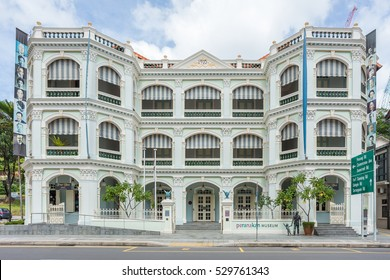 SINGAPORE -FEB 21, 2016 : Peranakan Museum is a museum in Singapore specialising in Peranakan culture. The historic Old Tao Nan School building.
