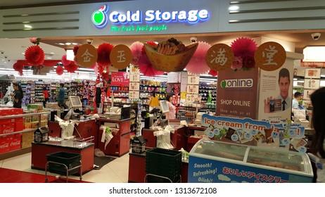Singapore , Singapore - Feb 5 2019: Cold Storage grocery store