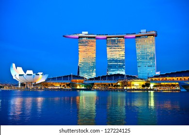 SINGAPORE - FEBRUARY 1: Marina Bay Sands, World's most expensive standalone casino property in Singapore at S$8 billion on Feb 1, 2013