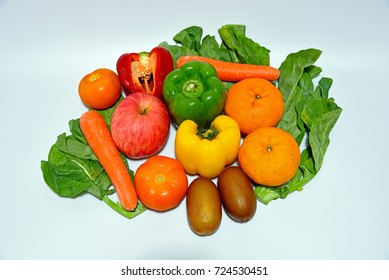 Singapore - February 10, 2016: Shot of fruits and vegetables to demonstrate nutrition for clean eating.