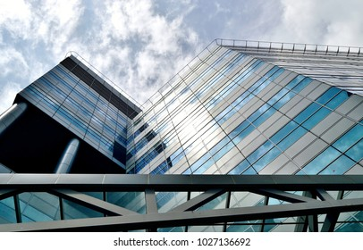 Singapore - February 14 2018: Exterior view of Connexis North Tower at Fusionopolis industrial park