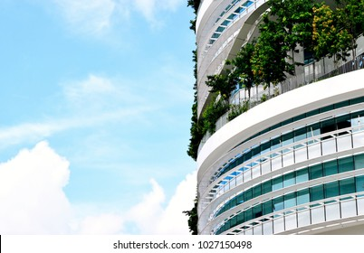 Singapore - February 14 2018: Side view of Solaris office building at Fusionopolis industrial park