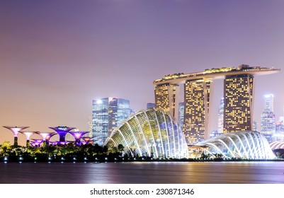 SINGAPORE - FEBRUARY 18: The Marina Bay Sands Resort Hotel on Feb 18, 2014 in Singapore . It is an integrated resort and the world's most expensive standalone casino property at S$8 billion.