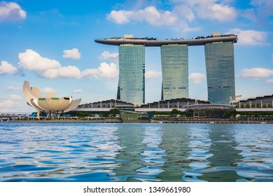 SINGAPORE - FEBRUARY 19, 2017: Marina Bay is landmark of Singapore for tourist.