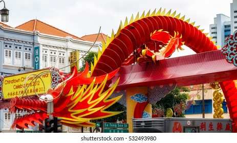 SINGAPORE - FEBRUARY 3 : Chinese Model Dragon to Celebrate the New Year in Singapore on February 3, 2012