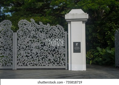 Singapore. - February,24th 2016 : Singapore. - February,24th 2016 : Entrance gate of The Singapore Botanic Gardens,is a 158-year-old tropical garden as a UNESCO World Heritage Site.
