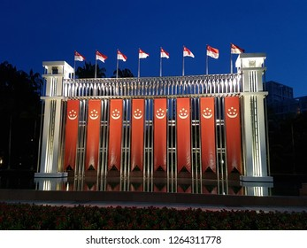 Singapore Flag Banners Hanging