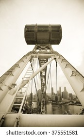 Singapore Flyer in Black and White