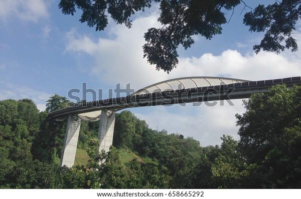 Singapore Henderson Wave Bridge Mount Faber Stock Photo