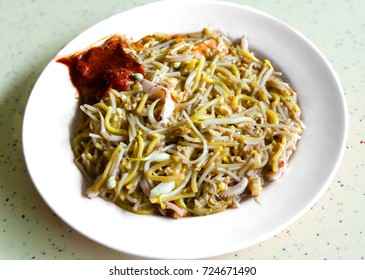 Singapore Hokkien mee is a popular local cuisine in Malaysia and Singapore that has its origins in the China's Fujian province. The dish consists of egg noodles and rice noodles stir-fried with meat
