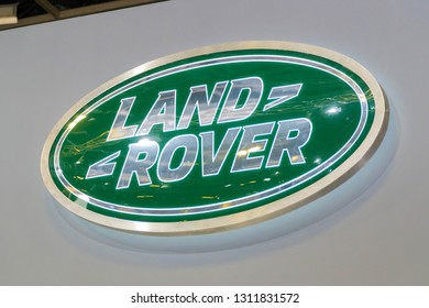 SINGAPORE - JANUARY 12, 2019: Land Rover company logo. Land Rover is a British multinational car manufacturer headquartered in Coventry England.
