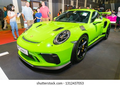 SINGAPORE - JANUARY 12, 2019: Porsche 911 GT3 RS at the Singapore Motor Show