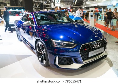 SINGAPORE - JANUARY 14, 2018: Audi RS5 Coupe at motorshow in Singapore.