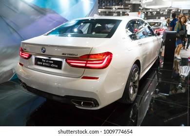 SINGAPORE - JANUARY 14, 2018: BMW M760Li Xdrive at motorshow in Singapore.