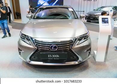 SINGAPORE - JANUARY 14, 2018: Lexus Es300h at motorshow in Singapore.