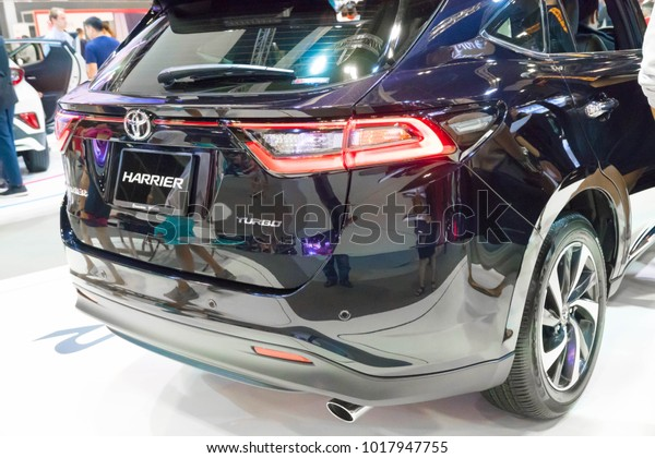 SINGAPORE - JANUARY 14, 2018: Toyota Harrier SUV at motorshow in Singapore.