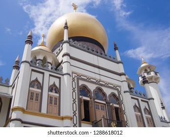 SINGAPORE - JANUARY 14 2019: Masjid Sultan or Sultan Mosque on January 14, 2019 in Singapore. This mosque was designated a national monument in 1975.