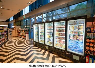 SINGAPORE - JANUARY 20, 2020: interior shot of Jasons Deli at the Shoppes at Marina Bay Sands. Jasons Deli is a supermarket and delicatessen.