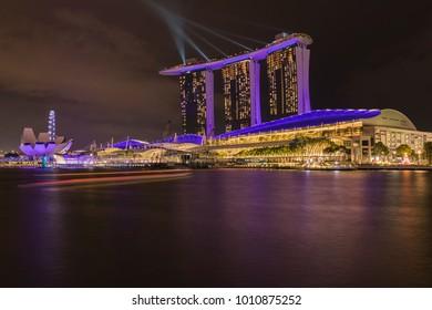 Singapore, January 2018 - Laservision Illuminates Marina Bay Sands
