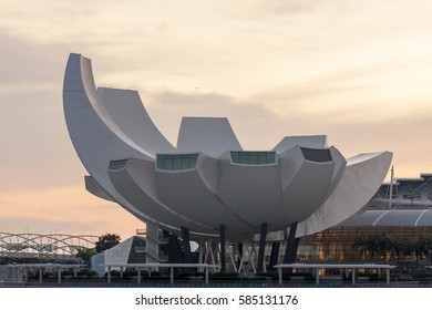 Singapore, January 2,2017:View central business buildings and landmarks of Singapore.