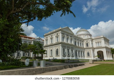 Singapore - January 24 2016: This building houses the fantastic National Museum of Singapore near Fort Canning